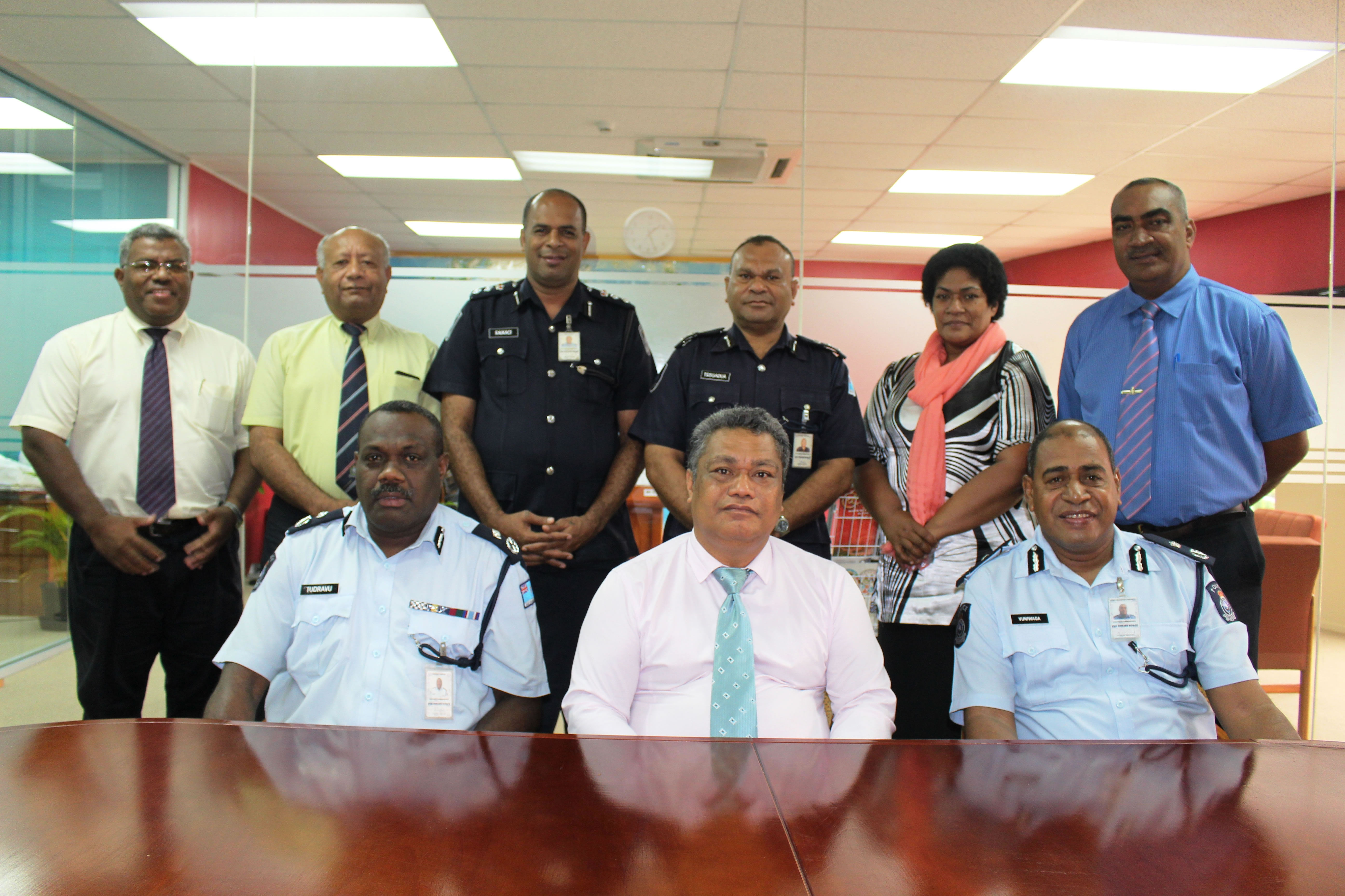 13 jan 2015 - dg forau visit fiji police headquarters