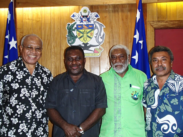 Courtersy call on the Prime Minister of Solomon Islands Hon. Gordon Darcy Lilo